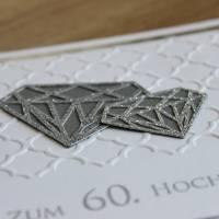 """Grußkarte, Glückwunschkarte """"Diamantene Hochzeit"""" aus der Manufaktur KarLa Bild 3"""