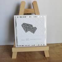 """Grußkarte, Glückwunschkarte """"Diamantene Hochzeit"""" aus der Manufaktur KarLa Bild 5"""
