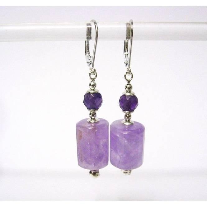 Ohrhänger/Ohrringe Lavendel Amethyst facettiert  Silber 925, Lila, Edel Ohrringe, Geschenk Bild 1