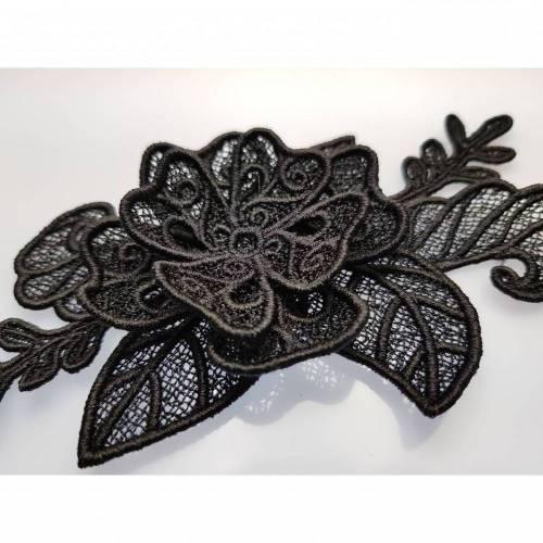 Applikation Spitze 3D Blume Aufnäher gestickt