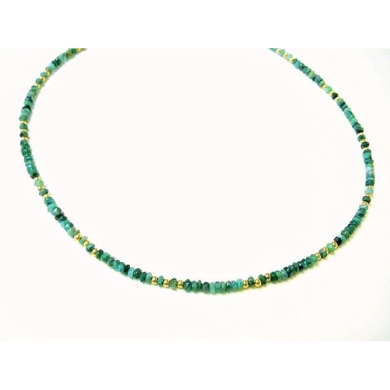Smaragd Unikat Traumcollier, Edelsteinkette, Smaragdkette, Geschenk, geburtstag Bild 1