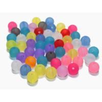 50 Gr. Acryl Perlen Mix frosted, 10 mm Bild 1