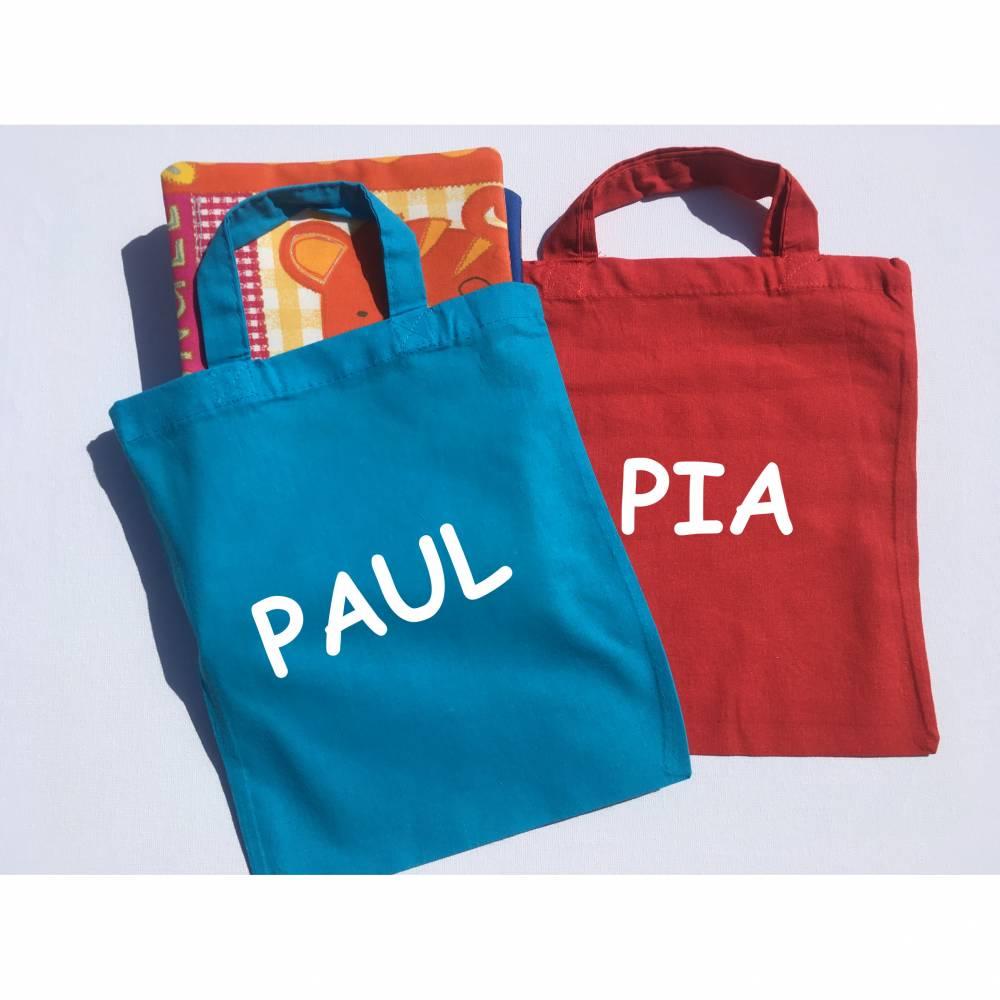 Baumwollbeutel mit Namen, Kindergartentasche personalisiert Bild 1