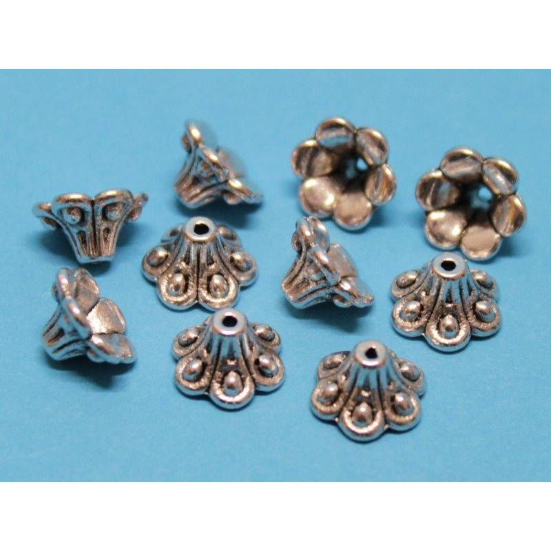 10 / 50 Perlenkappen Blütenkelch, ca. 10 x 5 mm Bild 1