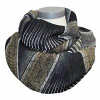 Sommer Damen Loopsschal Georgette grau schwarz khaki Bild 1