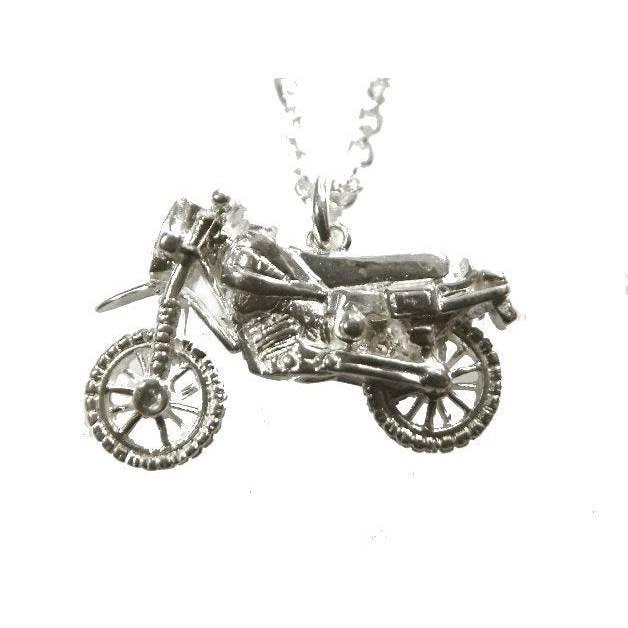 Anhänger Motorrad Silber 925 Moped Roller Vespa Bild 1