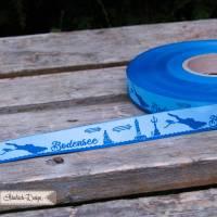Bodensee Skyline Webband hellblau/blau Bild 1