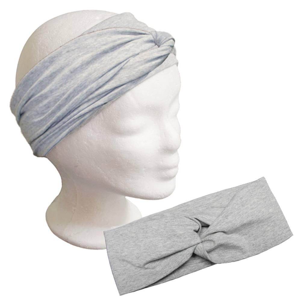 Turban Haarband Frauen Stirnband Damen Baumwolle Jersey meliert Bild 1
