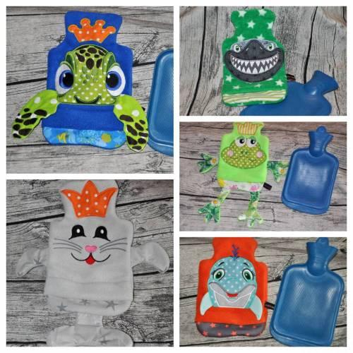 ♥♥✿✿ Wärmflaschen-Hüllen, Wasserbewohner, für 1 Liter Wärmflaschen, verschiedene Motive, freie Farbwahl ♥♥✿✿