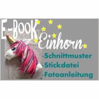Einhorn  E-book +Stickdatei Bild 1