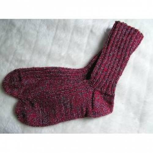Socken - Gr. 50 - reine Handarbeit - 8fädig, extra dick