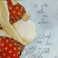 """Postkarte """" Die größte Liebe ihres Lebens...bringt eine Frau selbst zur Welt"""" Bild 1"""