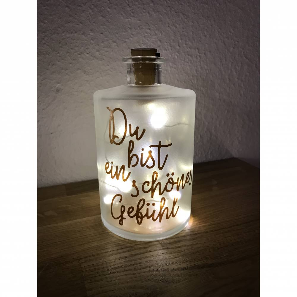 """Flaschenlicht """"ein schönes Gefühl"""" Bild 1"""