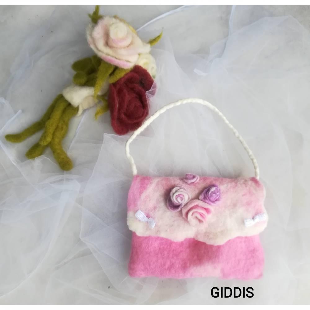 süße Mädchentasche- Filztasche Bild 1
