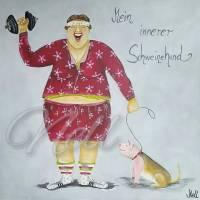 "Postkarte ""Schweinehund"" Bild 1"