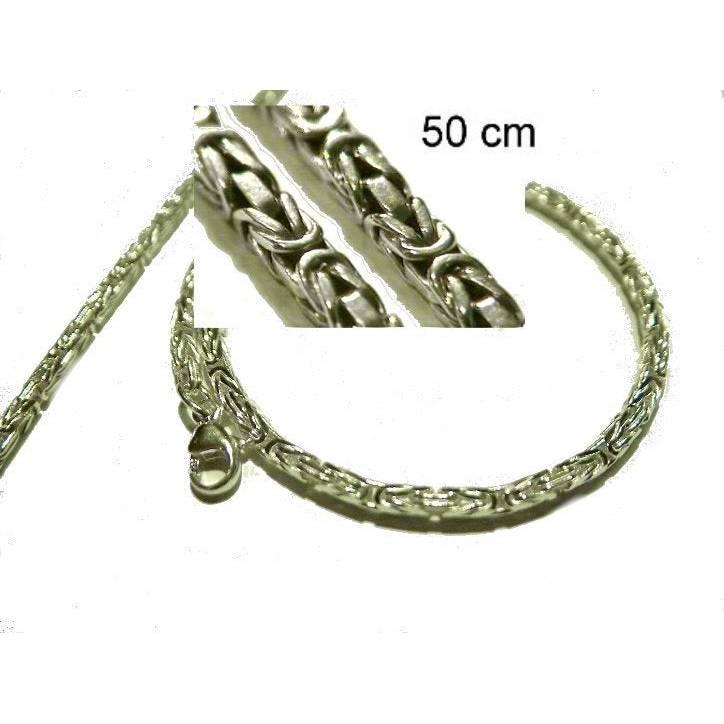 Königskette Silber 925 Halzkette Massiv 50cm Bild 1