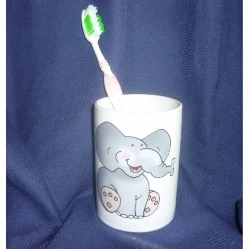 Zahnbecher,Zahnputzbecher Elefant,Mädchen,Junge,Zahn,Baddeco,Badezimmer,Hände,waschen,Zahnbürste,