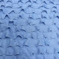 Rüschenjersey Jersey Rüschen Stoffe uni Bi-elastisch Volantstoffe  Bild 1