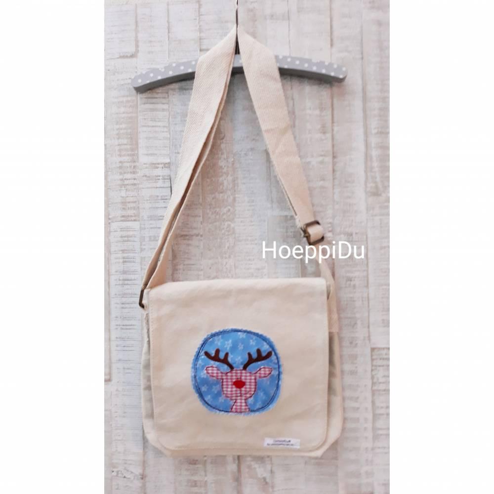 Kindergartentasche Elch, Tasche für Kinder, HoeppiDu, Weihnachten, Geschenk, Kinder Bild 1