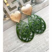 Herzohrstecker mit Kunstharz-Ornament Bild 2