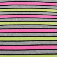 Jersey Stoffe gemustert Streifen Jerseystoffe Kinderstoff neon Bild 1