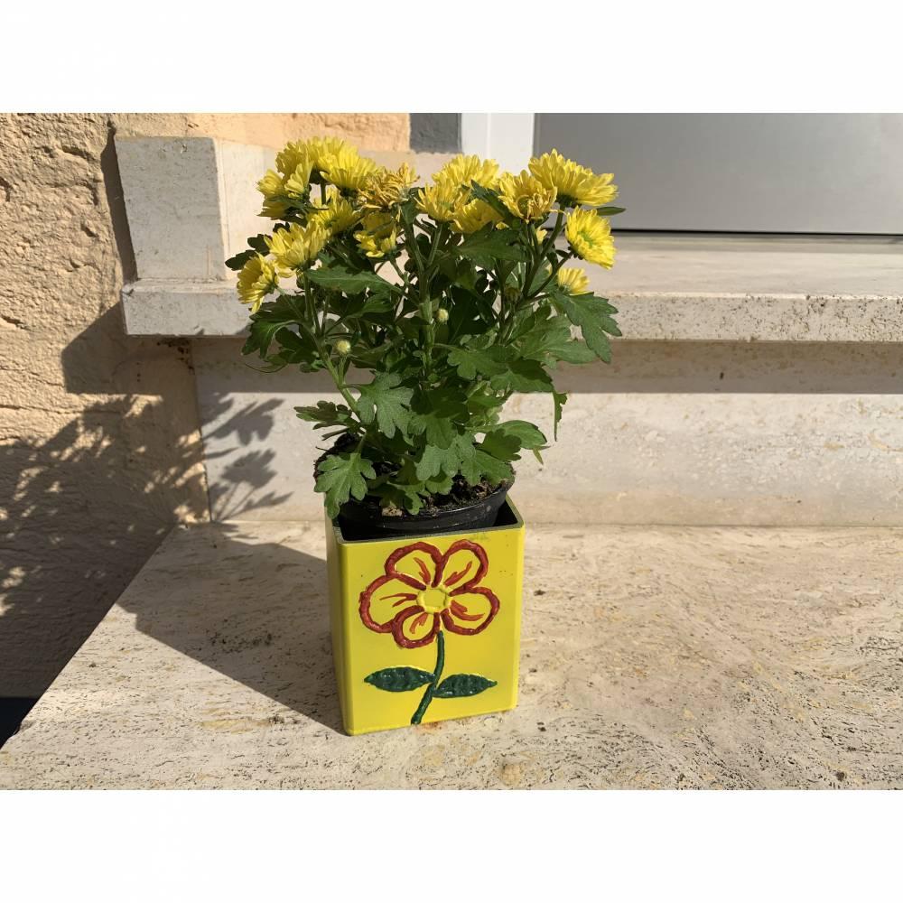 Edelstahl - Blumen - Übertopf - Schweißkunst - Blume - Deko Bild 1