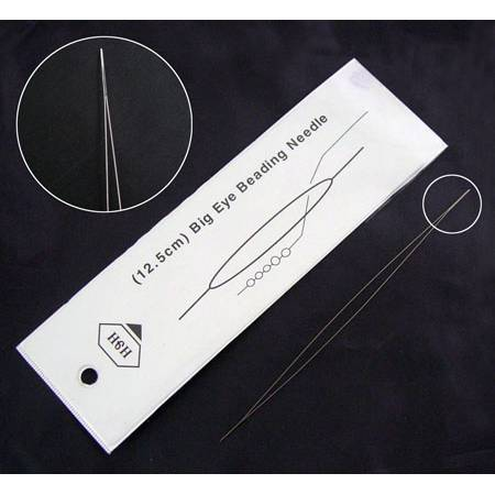 Perlfädelnadel - Big Eye Beading Needle 12,5 cm Bild 1
