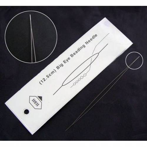 Perlfädelnadel - Big Eye Beading Needle 12,5 cm