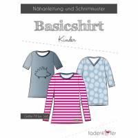 Papierschnittmuster Fadenkäfer - Basic-Shirt Kinder Bild 1