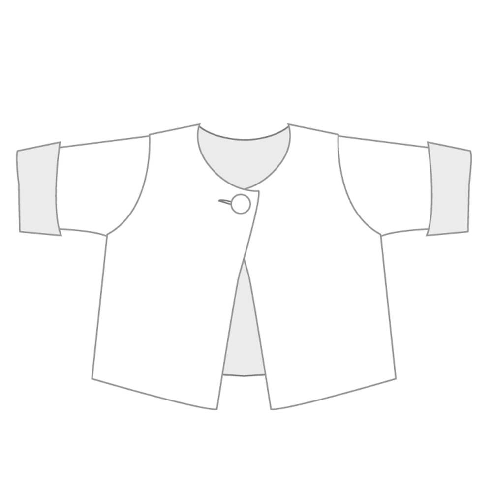 Schnittmuster Babyjacke, Wickeljacke, Kinder Kimono Wendejacke, Kleinkind, Neugeborene, Papierschnitt FILIPPA von Patternforkids Bild 1