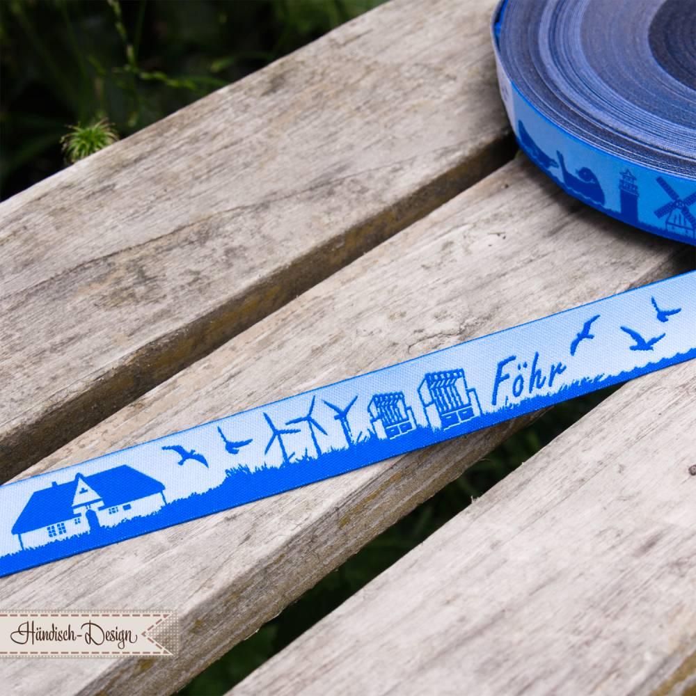 Föhr Skyline Webband hellblau/blau Bild 1