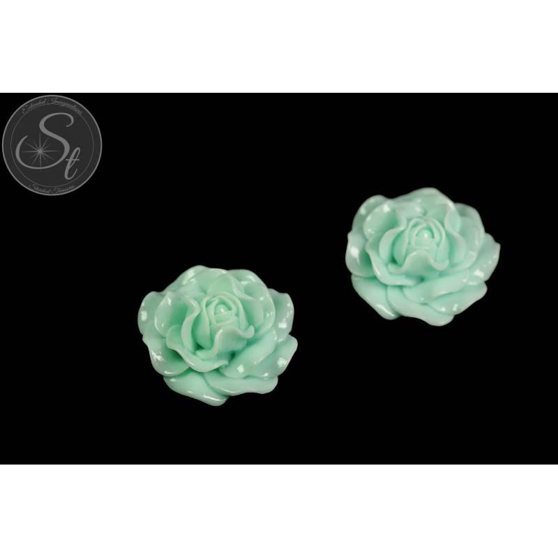 1 Stk. mintgrünes Blumen Cabochon 31mm Bild 1
