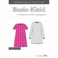 Papierschnittmuster Fadenkäfer - Basic-Kleid Kinder Bild 1