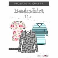 Papierschnittmuster Fadenkäfer - Basic-Shirt Damen Bild 1