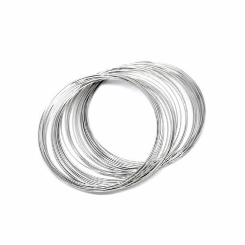 Memory Wire Draht, Spiraldraht, Armband, Wickelarmband, 50-55 mm x 0,60 mm, 09062
