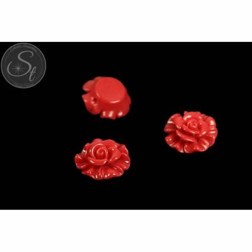 2 Stk. rote Blumen Cabochons 19mm