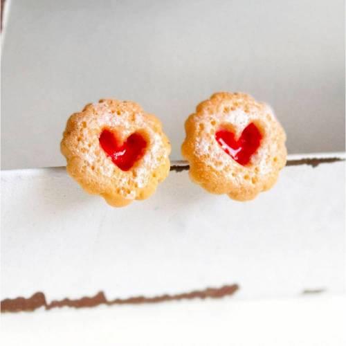 MINI Marmeladenkeks Ohrstecker Miniature food - Herz