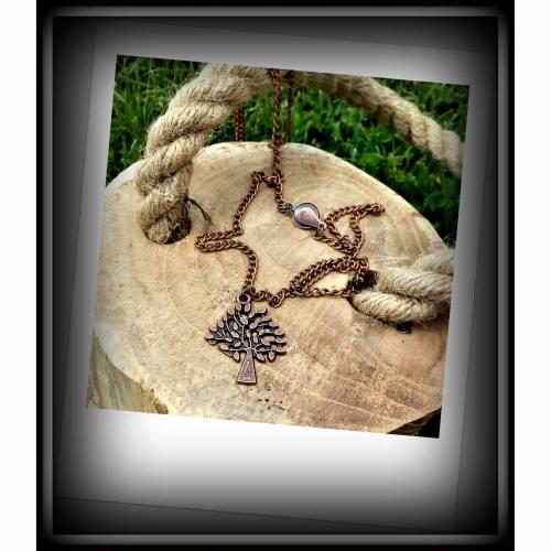 Lebensbaum-Halskette in antik kupfer