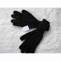 Fingerhandschuhe - Gr. XL - Fb. schwarz - reine Handarbeit Bild 1