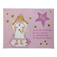Schutzengelbild Schutzengel Bild für Mädchen zur Taufe Geburt Bild 1