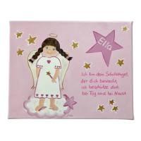 Schutzengelbild Schutzengel Bild für Mädchen zur Taufe Geburt Bild 2