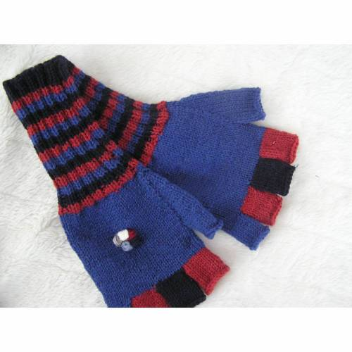 Handschuhe - Gr. XL - ohne Fingerkuppe - reine Handarbeit