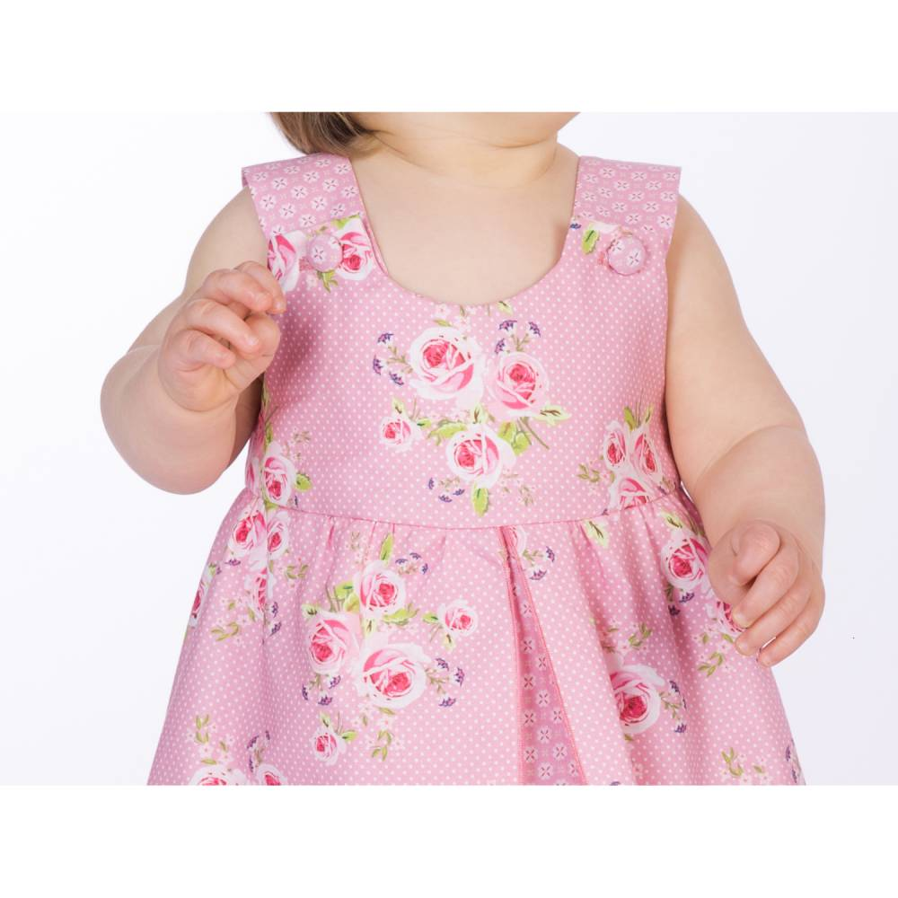 Babykleid kostenloses schnittmuster Kinderkleidchen