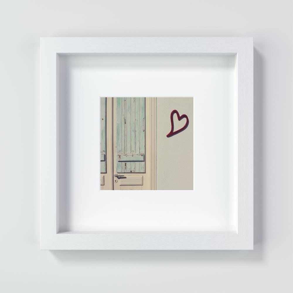 Herz Print, ein Geschenk für Verliebte oder zum Valentinstag, Größen 13 x 13 cm + 20 x 20 cm Bild 1