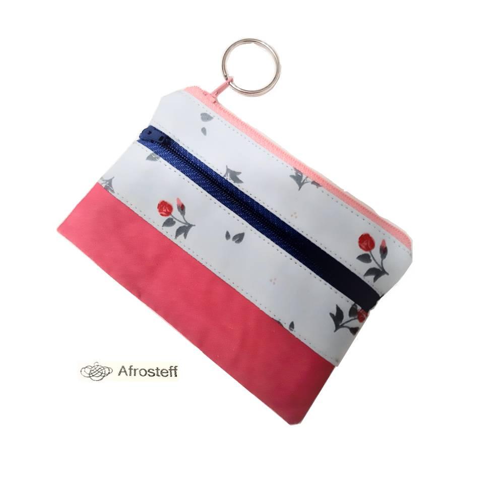 Schlüsseletui mit Kunstleder und Schlüsselring Bild 1