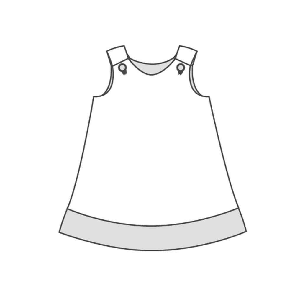 Mädchenkleid Baby Hängerchen Schnittmuster. Papierschnitt Kleid für Mädchen und Baby Schürzenkleid Gr. 68 bis 146 STEFFI von Patternforkids Bild 1
