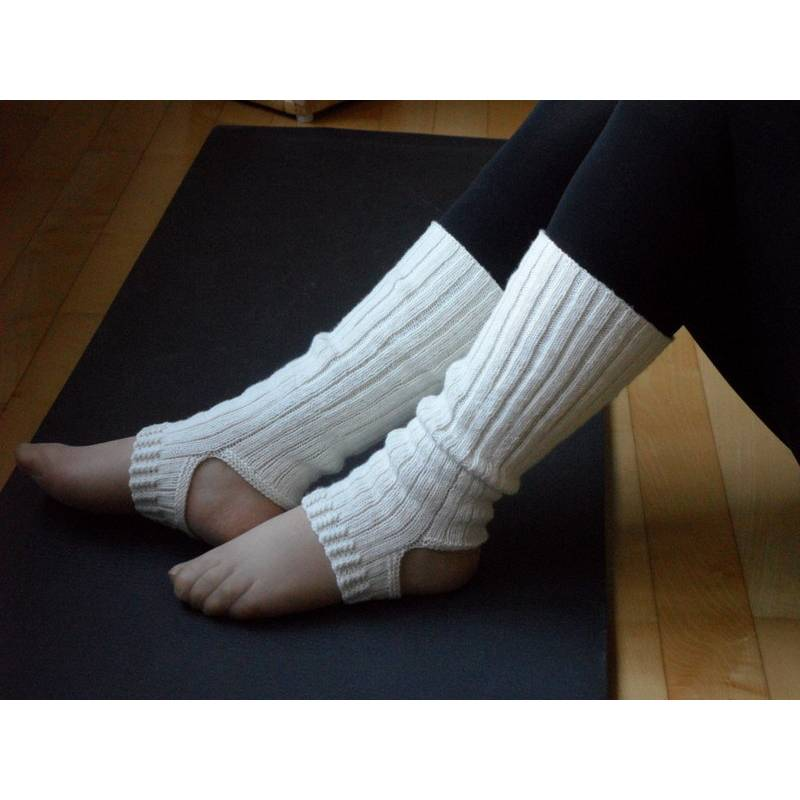 Yogasocken, Ballettsocken, Pilates-Socken, Wolle, Seide, handgestrickt Bild 1
