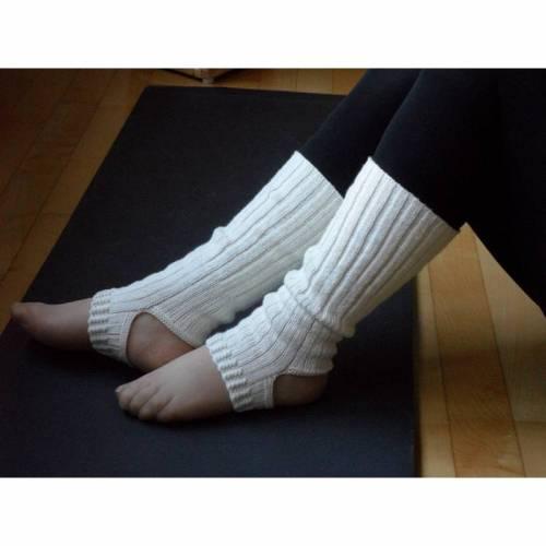 Yogasocken, Ballettsocken, Pilates-Socken, Wolle, Seide, handgestrickt
