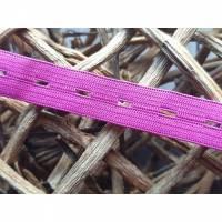 Knopflochgummi 1,5cm breit fuchsia