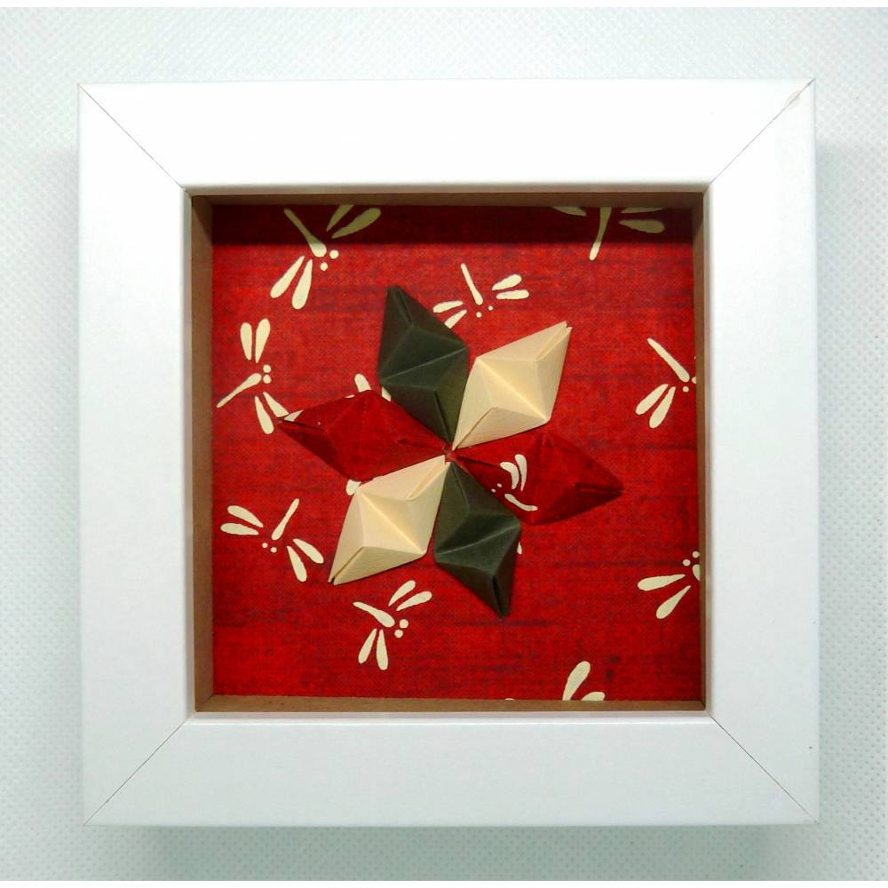 Stern auf Libellen  // Minibild 10 x 10 cm zum Aufstellen oder Hängen Bild 1